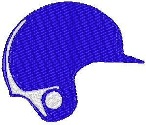 Product picture Blue Baseball Helmet Embroidery Design