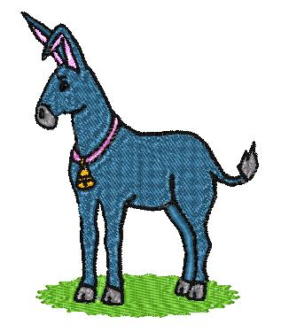Product picture Donkey Embroidery Design