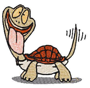 Product picture Silly Turtle Embroidery Design
